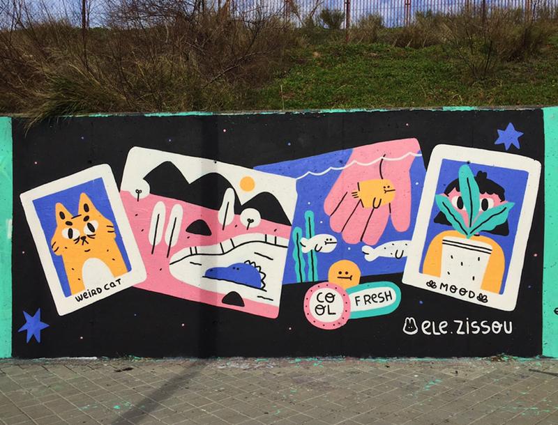 Wallspot - elezissou - Madrid - Dr. García Tapia - Media Legua - Graffity - Legal Walls -