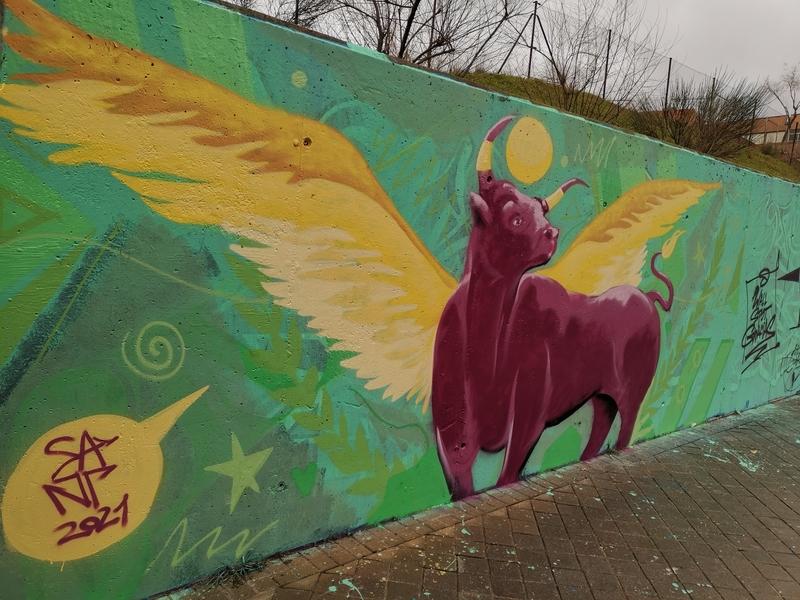 Wallspot - SANT - Buey Alado - Madrid - Dr. García Tapia - Media Legua - Graffity - Legal Walls -