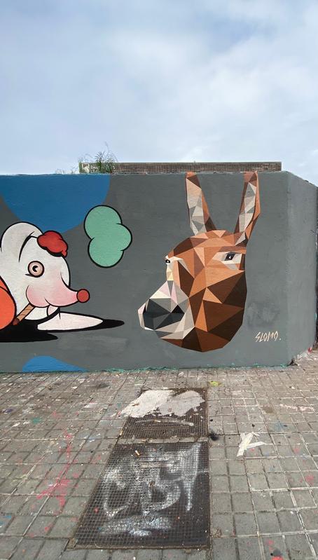 Wallspot - slomo - burro catalá - Barcelona - Selva de Mar - Graffity - Legal Walls - Illustration