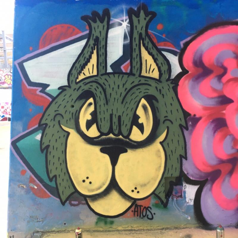 Wallspot - AtosArde - miau baby - Barcelona - Tres Xemeneies - Graffity - Legal Walls - Il·lustració