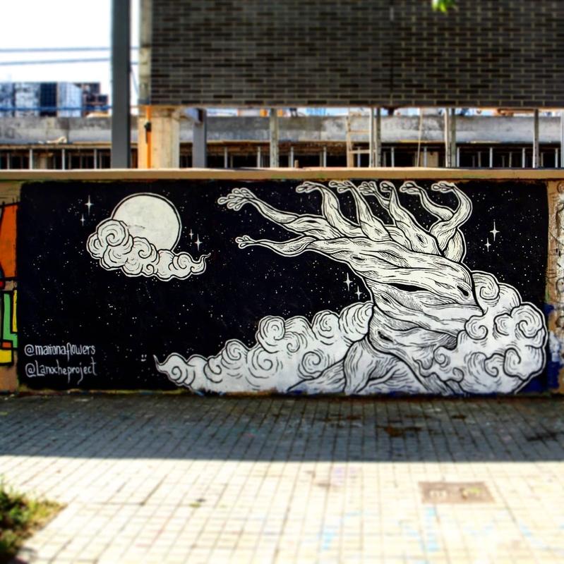 Wallspot - La Noche Project - Agricultura - Barcelona - Agricultura - Graffity - Legal Walls - Illustration