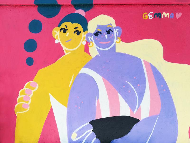 Wallspot - gemfontanals - Frenemies - Barcelona - Agricultura - Graffity - Legal Walls - Illustration