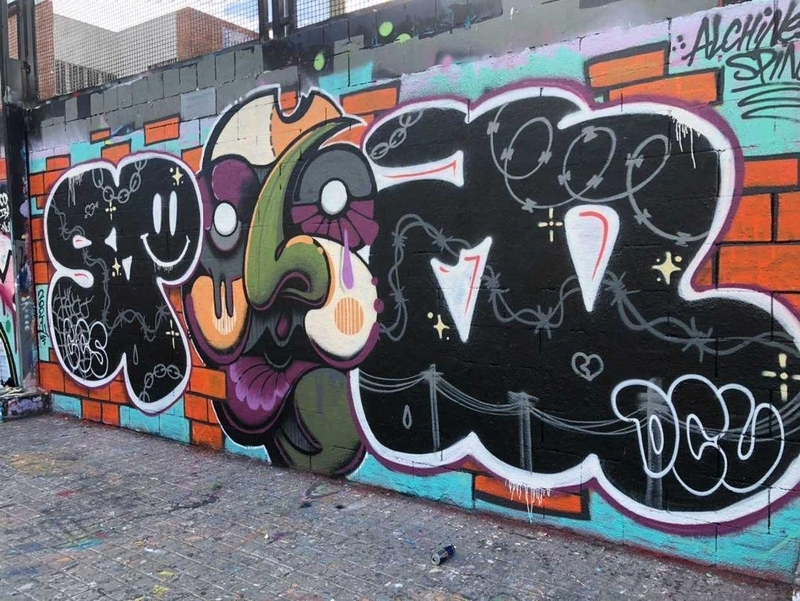 Wallspot - alchinesse - COLLAB w @SPIN_LETTERS  - Barcelona - Drassanes - Graffity - Legal Walls - Illustration