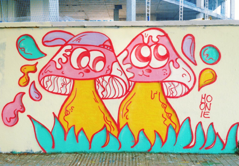 Wallspot - moonie - Trippy&Troppy  - Barcelona - Selva de Mar - Graffity - Legal Walls -
