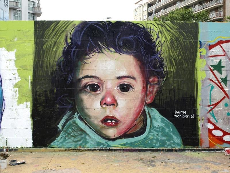 Wallspot - Jaume Montserrat - Realism Jam - Barcelona - Tres Xemeneies - Graffity - Legal Walls - Ilustración, Otros