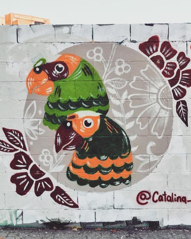 Wallspot - Catalina_flora - Poble Nou - Catalinaflora - Barcelona - Poble Nou - Graffity - Legal Walls - Illustration