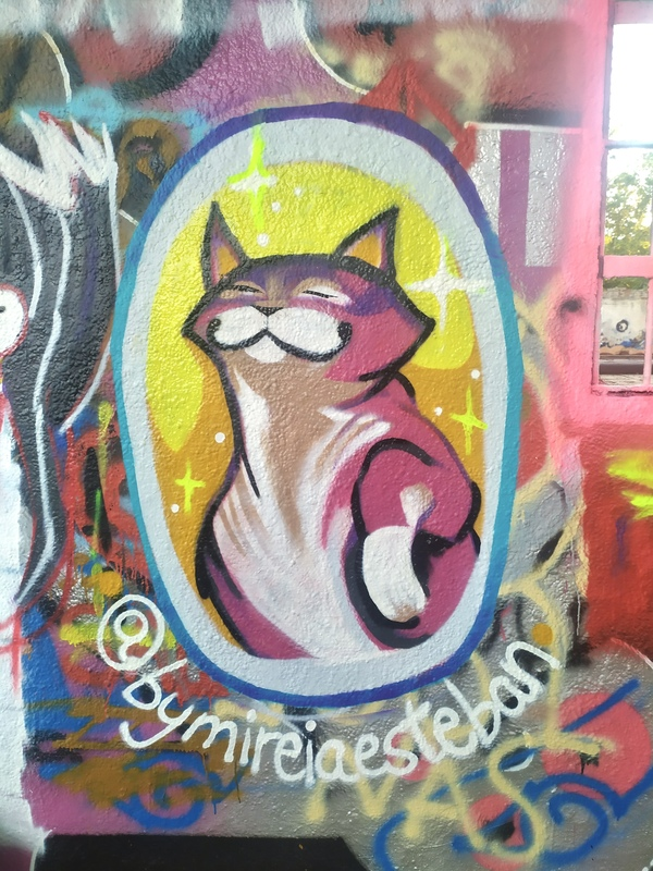 Wallspot - bymireiaesteban - Gatito  - Barcelona - Western Town - Graffity - Legal Walls - Il·lustració