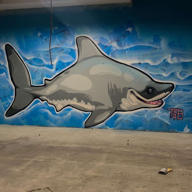 Wallspot - Tony-b - shark - Göteborg - Draken - Graffity - Legal Walls -