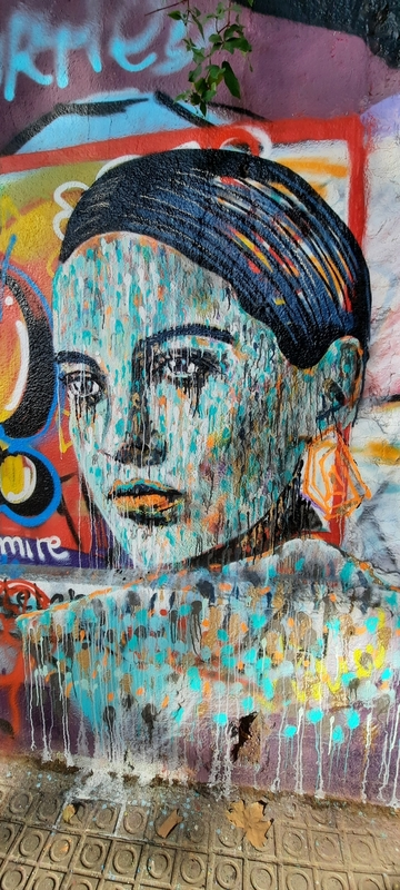 Wallspot - martinmonet/ceciliastenmark -  guell + rosalía - Barcelona - Western Town - Graffity - Legal Walls -