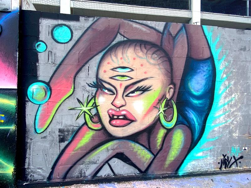 Wallspot - nirv_anna - Tres Xemeneies - nirv_anna - Barcelona - Tres Xemeneies - Graffity - Legal Walls - Illustration