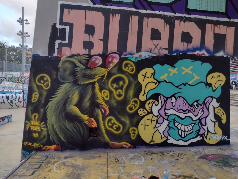 Wallspot - ink_rats - Barcelona - Tres Xemeneies - Graffity - Legal Walls -