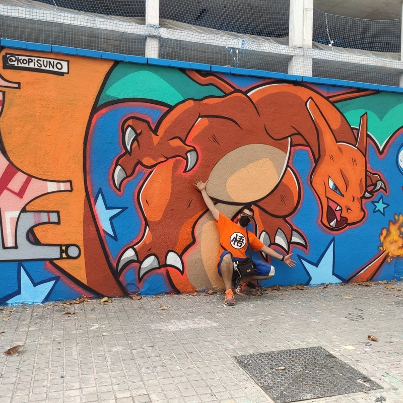 Wallspot - kopis - charizard - Barcelona - Western Town - Graffity - Legal Walls - ,