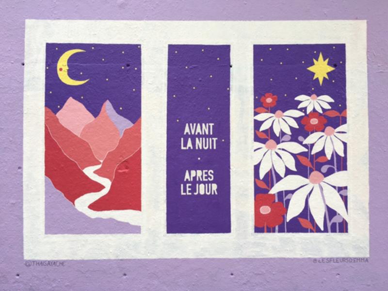 Wallspot - Les fleurs d'Emma - Barcelona - Tres Xemeneies - Graffity - Legal Walls -