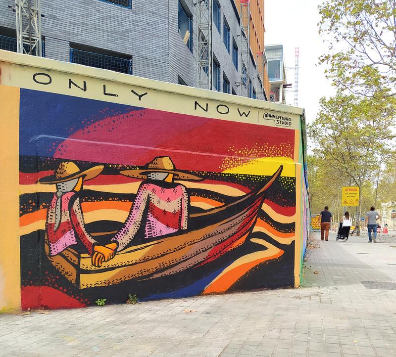 Wallspot - Inventura Studio - Efímero #14 - Barcelona - Agricultura - Graffity - Legal Walls - Il·lustració, Stencil, Altres