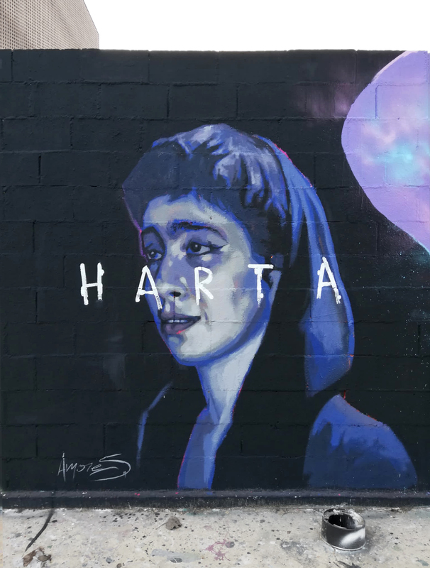 Wallspot - sigridamores - Harta - Barcelona - Tres Xemeneies - Graffity - Legal Walls - , ,