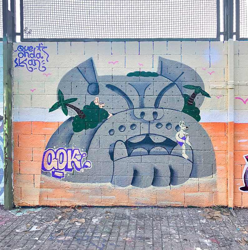 Wallspot - Que onda kan - islas con @carolabagnato - Barcelona - Drassanes - Graffity - Legal Walls - Illustration