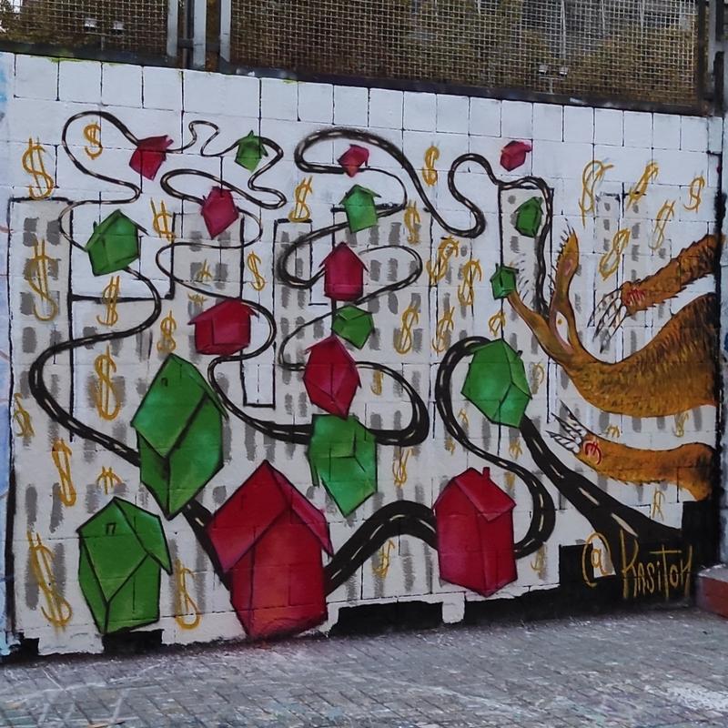 Wallspot - kasitoh - Monopolio de Drako - Barcelona - Drassanes - Graffity - Legal Walls - Ilustración