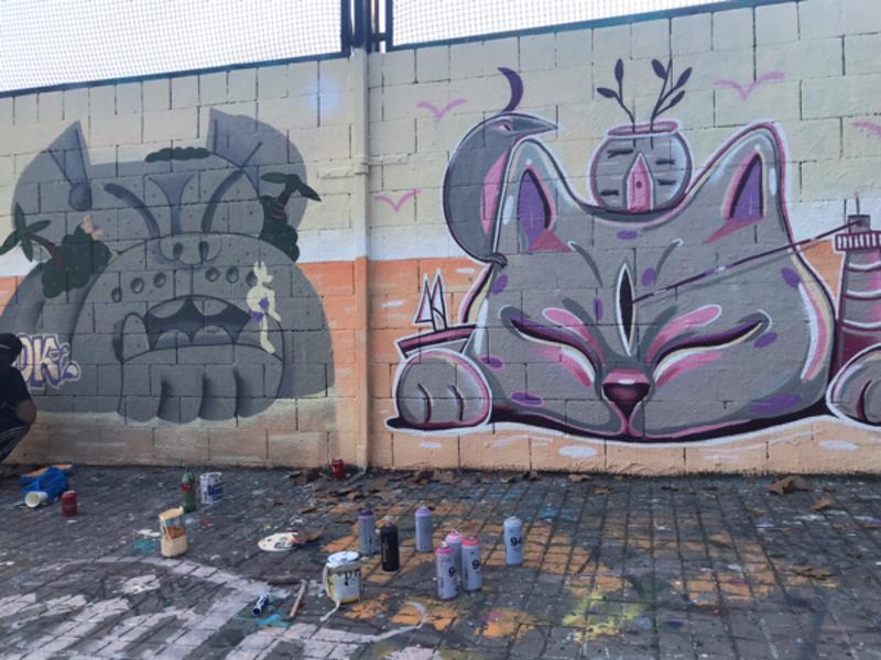 Wallspot - Carola Bagnato - Buen viaje - Barcelona - Drassanes - Graffity - Legal Walls - Ilustración