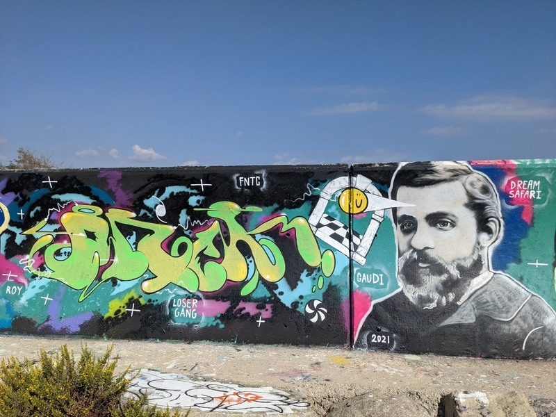 Wallspot - DREAM SAFARI - GAUDI - Forum beach - Barcelona - Forum beach - Graffity - Legal Walls - Letters, Illustration
