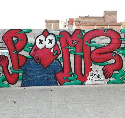 Opening wall - Poble Nou - Rombos / Konair / LMNT (Argel)