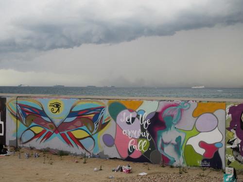 BuBu at Forum beach - alongside Audifax