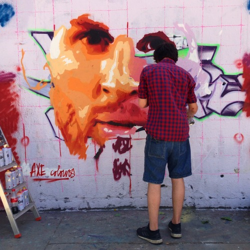 Live painting Axe Colours