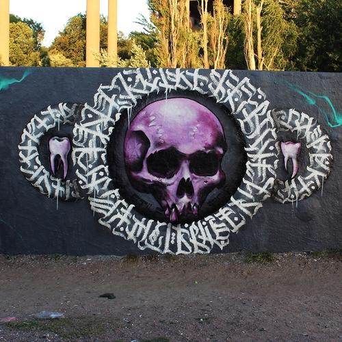 skull under the bridge.