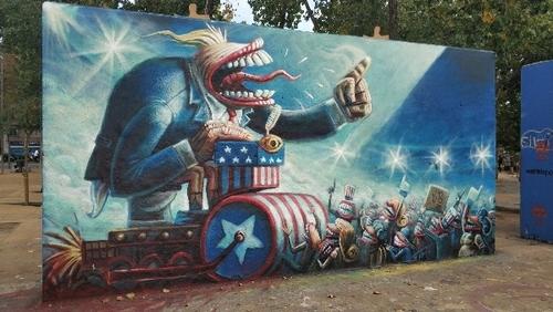 Wallspot -haz_la_maleta - It's a trap! - Barcelona - Tres Xemeneies - Graffity - Legal Walls - Il·lustració - Artist - Juanjo_Surace