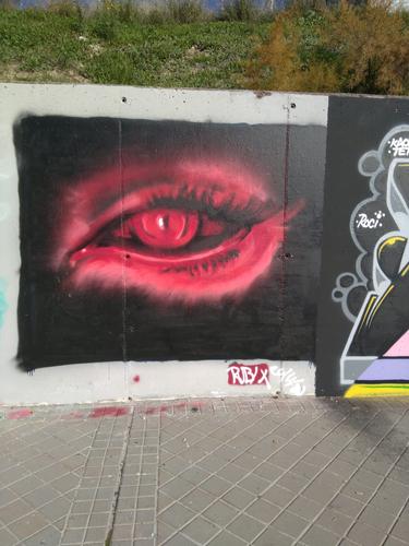 Wallspot - RUBIX - Dr. García Tapia - Media Legua - Madrid - Dr. García Tapia - Media Legua - Graffity - Legal Walls - Il·lustració