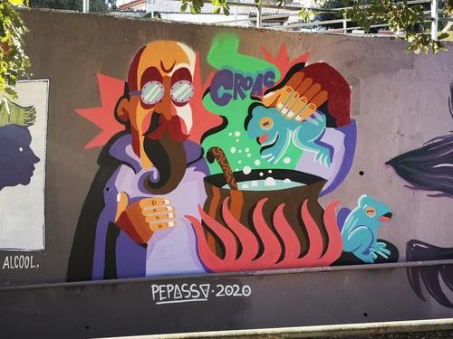 Wallspot - Pepasso - Rampes la floresta - Sant Cugat - Rampes la floresta - Graffity - Legal Walls - Lletres, Il·lustració