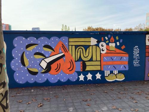 Wallspot - gasp - birthday wall - Barcelona - Selva de Mar - Graffity - Legal Walls - Ilustración