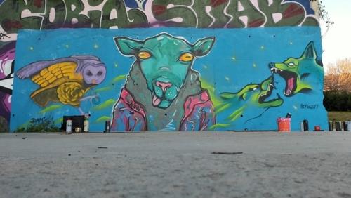 Wallspot - MEGUI -  - Barcelona - Skate Park les corts - Graffity - Legal Walls -