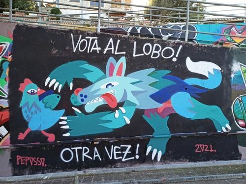 Wallspot - Pepasso - vota al lobo - Sant Cugat - Rampes la floresta - Graffity - Legal Walls - Letras