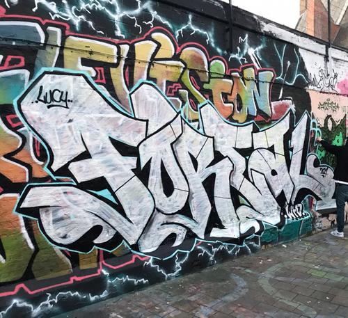 Wallspot - markforeal - Graffitistraatje / Graffiti Alley - Ghent - Graffitistraatje / Graffiti Alley - Graffity - Legal Walls - Letters, Illustration, Stencil