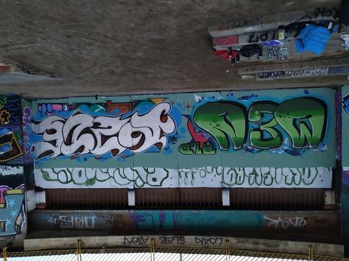 Wallspot - Highbro - El pont de la ronda - Highbro - Barcelona - El pont de la ronda - Graffity - Legal Walls - Letters
