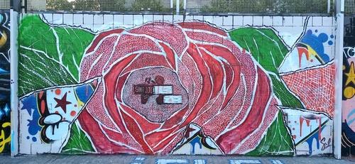 "Wallspot - SMcreations - ""Roses i Llibres""  - Barcelona - Drassanes - Graffity - Legal Walls -"