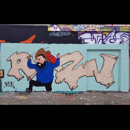 Wallspot - Riznind - Captain Haddock - Rotterdam - Croos - Graffity - Legal Walls - Letters, Illustration