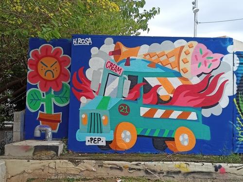 Wallspot - Pepasso - la última de l'estiu - Barcelona - Parc de la Bederrida - Graffity - Legal Walls - Letters, Illustration