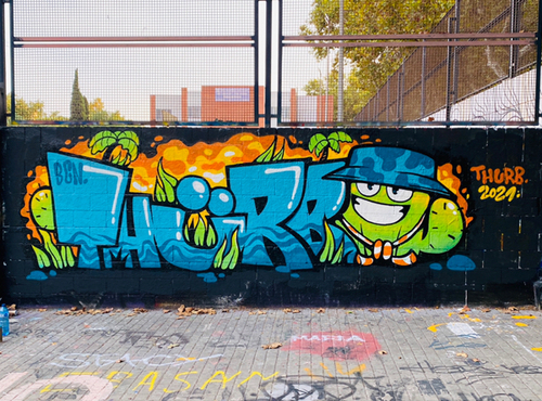 Wallspot - THURB - Drassanes - Barcelona - Drassanes - Graffity - Legal Walls - Letters, Illustration
