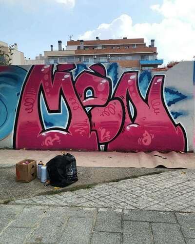Wallspot - Lmental.Watson - Terrassa Walls - Men - Barberà del Vallès - Maria Reverter / Nemesi Valls - Graffity - Legal Walls -